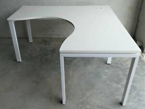 Rapid Infinity White Corner Desk 1.5m, Delivery $10-$50, Free Install