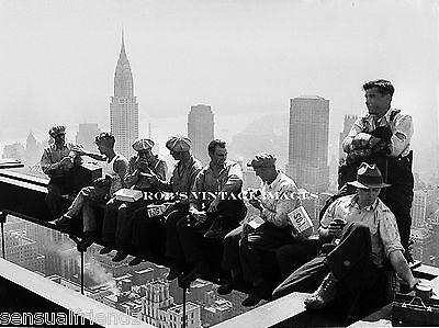 Vintage New York City photo Skyscraper Contruction Skyline Rockefeller Ctr print