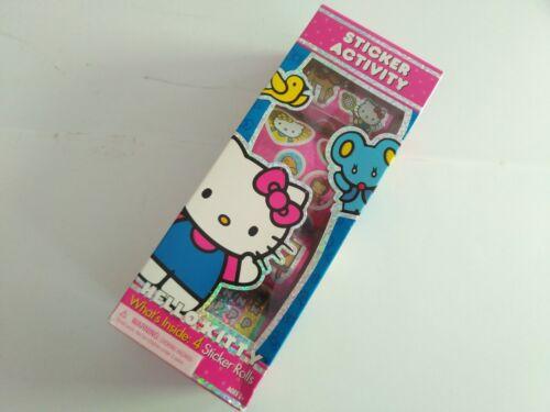 SANRIO Hello Kitty Sticker Activity - 4 ROLLS - New in Box Arts and Crafts