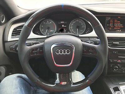 Audi B8 S4 Steering Wheel carbon fibre FOR A4/s5/s3/rs4/rs5/s6/a6/a7/a8/r8/a5