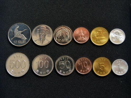 Korea, South coin set. 6 coins UNC