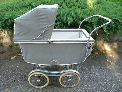 Vintage Pram/Carriage/Stroller made in Massachusetts, lots of chrome!!