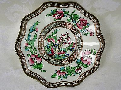 Indian Tree Saucer - Coalport China Indian Tree Multicolor Older Scalloped Saucer Only