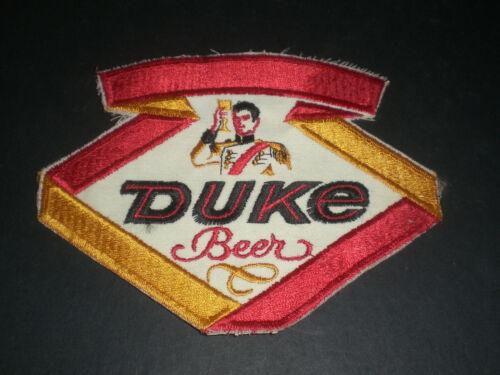 DUKE DUQUESNE BEER PATCH - LARGE - VINTAGE