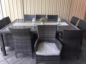 Outdoor wicker dining 11 piece Marden Norwood Area Preview