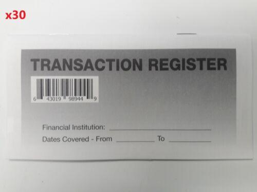 30 - Checkbook Transaction Registers - 2021-23 Calendar - Check Book Bank