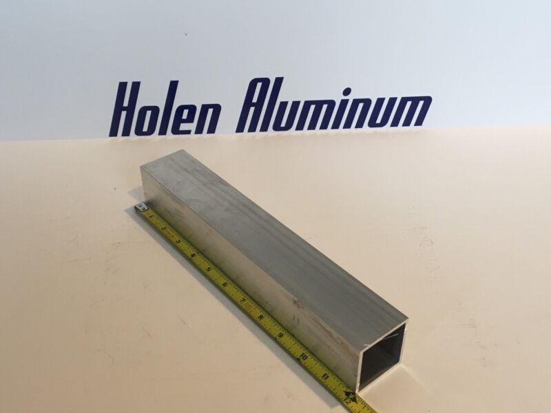 "2"" X 2"" X 1/8"" X 12"" Long Square Aluminum Tubing 6063-T52 (Radius Corners)"