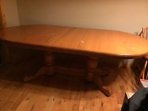 Beautiful solid pine table and chairs  $400 OBO
