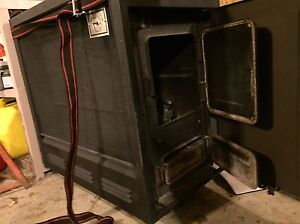 Valley Comfort Wood Burning Fireplace / Furnace with Chimney Strathcona County Edmonton Area image 2