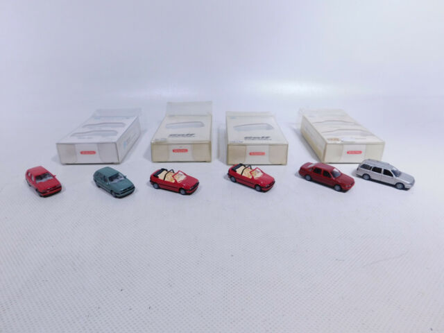 CR35-0, 5# 4x Wiking H0/1:87 Set PKW VW: Golf Cabriolet + Passat etc, NEUW+OVP