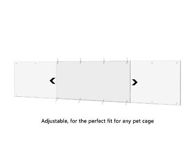 """Side Pet Cage Liners Adjustable 12 Holes Bends Easy Cut Fold 14"""" x 4.5"""" Pack 4"""