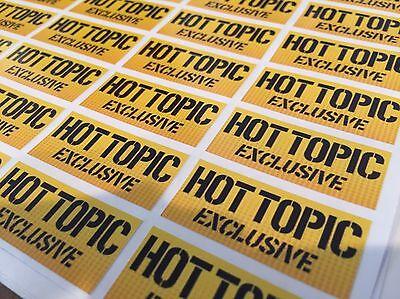 10 Replacement HOT TOPIC exclusive funko pop vinyl Stickers X10 ** UK ** Vaulted