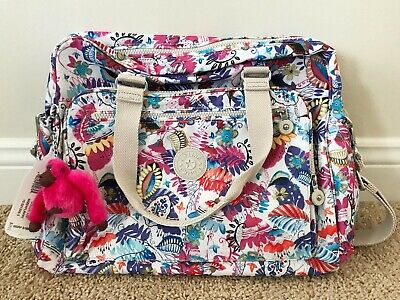 KIPLING Baby Diaper Floral Nursery Large Bag.