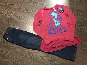 NEW Girls size 10-12 top & size 10 jeans