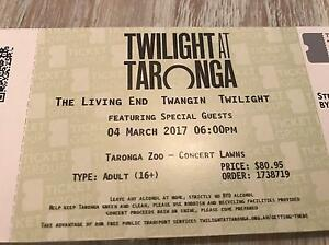 1 x ticket The Living End 'Twangin'at Twilight' Saturday 4 March Warriewood Pittwater Area Preview