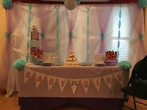 Owl themed baby shower decor