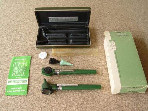 Vintage Welch Allen Lite Set Ophthalmoscope Otoscope Set with Case and Box