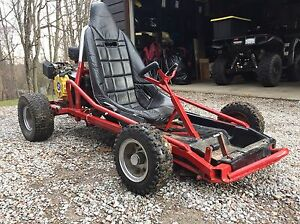 Fast off road go kart with electric start