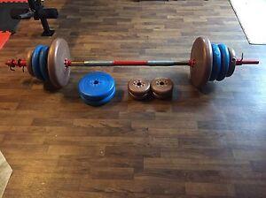 Bar et 130lbs de poids