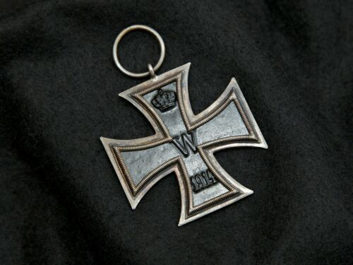 WWI German Iron Cross 2nd Class Marked H for Paul Hossauer, c.1916 sandcast