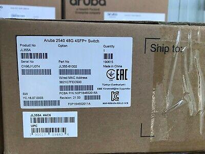 JL355AAruba 2540 48G 4SFP+ Switch