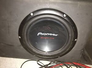 Pioneer Subwoofer with Amp and box