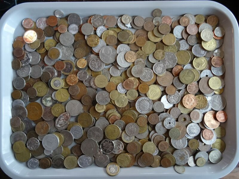 Old Mixed World Coin Collection Bulk Estate Exchange? 5 POUNDS Treasure Lot?