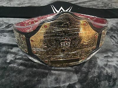 WWE BIG GOLD WORLD HEAVYWEIGHT CHAMPIONSHIP WRESTLING BELT RED CROC CUSTOM - Wwe Championship Belts