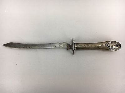 Vintage Sterling Silver Carving Knife Shield Design