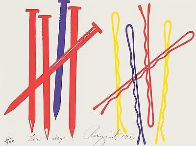 James Rosenquist, original Farbserigraphie, handsigniert und nummeriert.