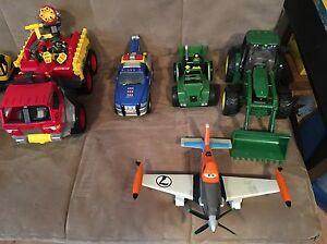 Camions de pompier, tracteur, camions