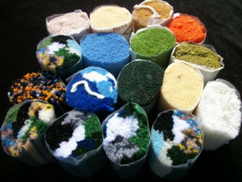 Latch Hook Yarn Lot 17 packs Rug Yarn Mixed