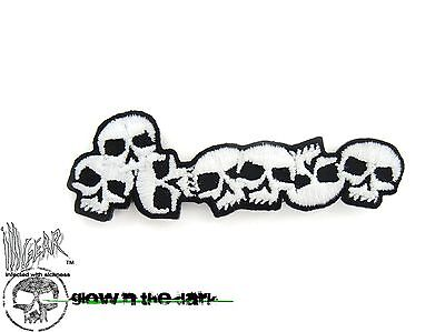 ill Gear Accent Mini Skulls V2 Hook and Loop Morale Patch GID Glow in the -