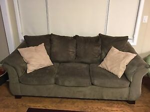 Sage couch, love seat and coffee table set