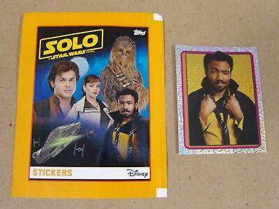 Star Wars: Solo SILVER FOIL STICKER - LE Lando Calrissian - Topps Europe 2018