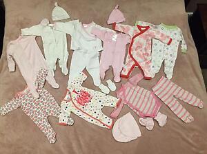 Premmie Baby Girls Lot 00000 & 0000, EUC Clayton South Kingston Area Preview