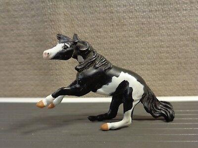 "Vintage Breyer Miniature Horse Black White Standing figure 1.5"" (VIN146)"