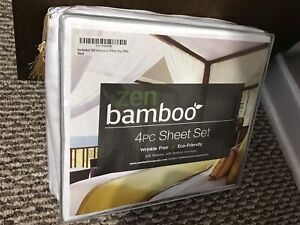 Bamboo Bed Sheets - King, Pure White