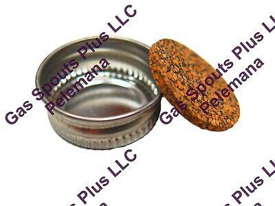 1 Eagle Delphos Metal Gas Can Screw Cap Fuel Gallon Quart Lid Cork Gasket 1inch