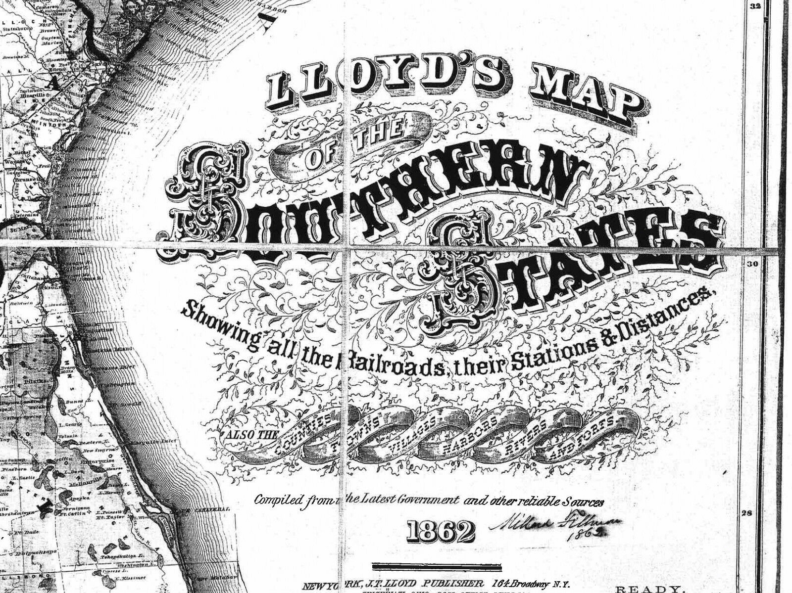 US CONFEDERATE STATES 1862 MO MAP Bridgeton Cameron Cape Girardeau history HUGE