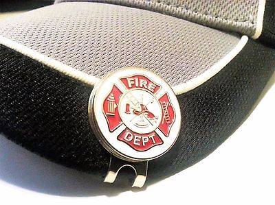 Firefighter Golf Accessories (Magnetic Golf Ball Marker Hat Clip Fire Department Firefighter US Seller)