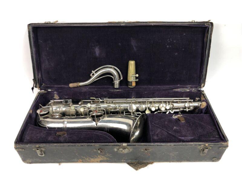 Conn Wonder C Melody Saxophone Silver 1916 Serial#35787