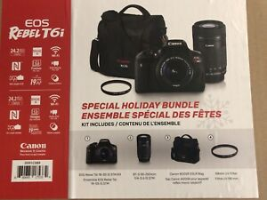 Canon T6i Camera / 18-55mm / 55-250mm / Bag / Filter