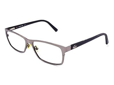 Lacoste Eyeglasses L2172 210 Gunmetal Brown Rectangular Frame 53[]15 140