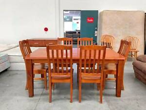 TODAY DELIVERY 7 pcs STRONG SOLID WOOD Dining table QUICK SALE