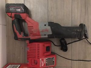 Milwaukee M18 sawzall c/w battery and charger $165 obo