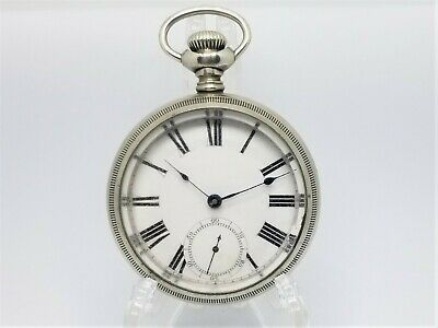 Antique ~1890 WALTHAM 7J 18s Gr. 1 Non-Magnetic Silver-Nickel Heavy Pocket Watch