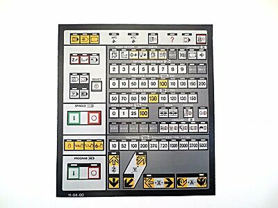 Cnc Machine Keypad Replacement Membraneoverlay 11-04-00. Nos