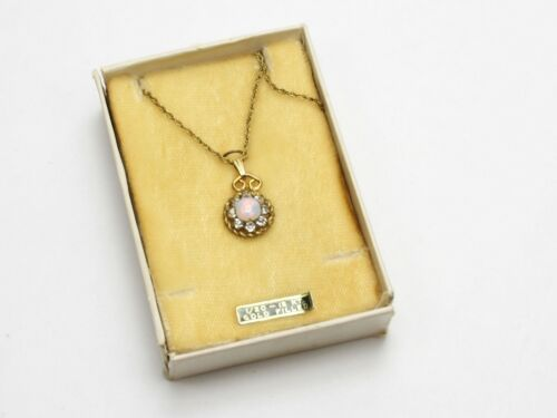 Antique 1/20 12K Gold Filled GF Chain Necklace w/Round Pendant