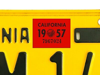 New August AUG Month California DMV License Plate Red Registration Sticker